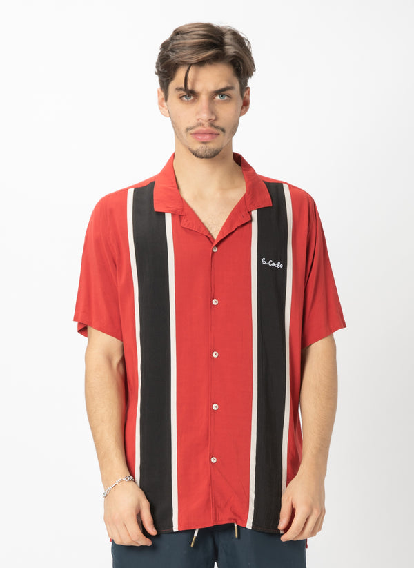 Holiday Camp-Collar Shirt Bowling Red