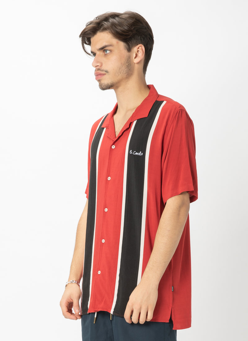 Holiday Camp-Collar Shirt Bowling Red - Sale