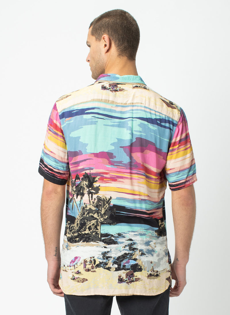 Holiday Short-Sleeve Shirt Island Print