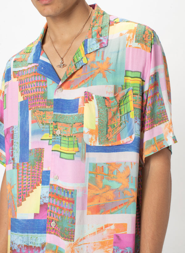 Holiday Camp-Collar Shirt Miami Day - Sale