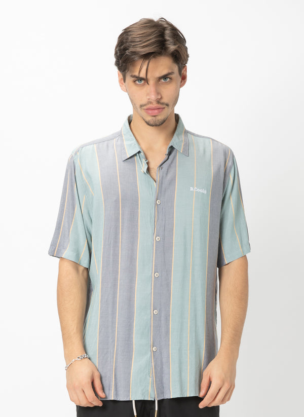 Holiday Short Sleeve Shirt Navy Stripe - Sale
