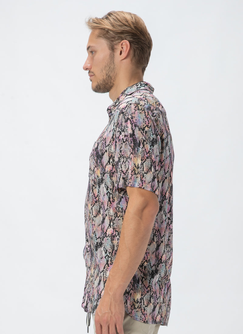 Holiday Short-Sleeve Shirt Pink Snake - Sale