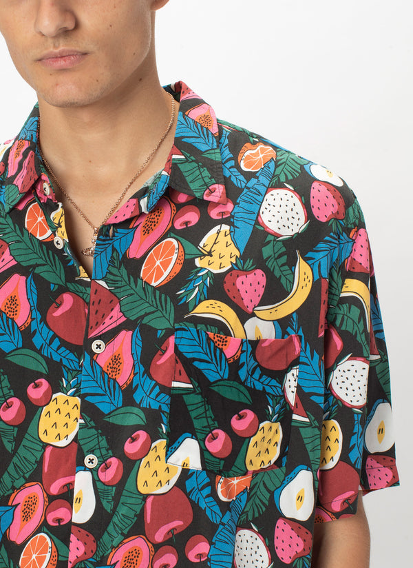 Holiday Short-Sleeve Shirt Black Fruits - Sale