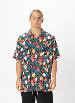 Holiday Short-Sleeve Shirt Black Fruits