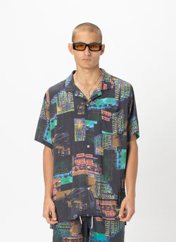 Holiday Camp-Collar Shirt Miami Night