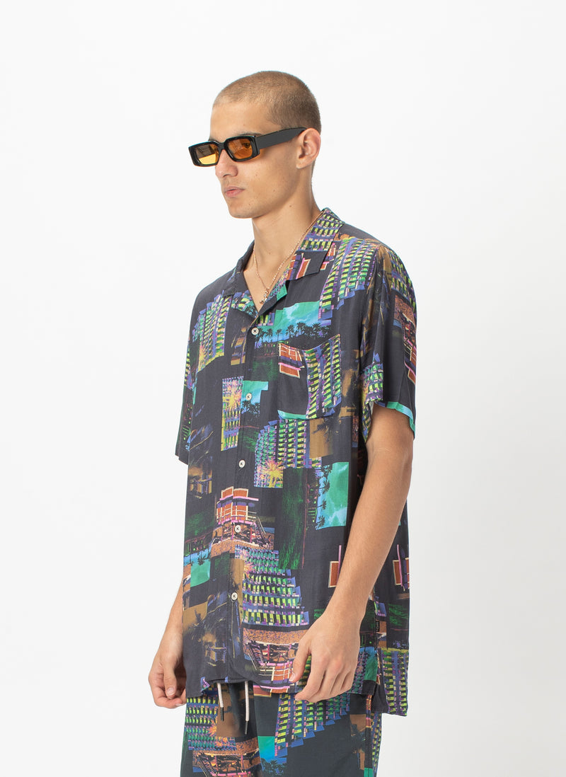 Holiday Camp-Collar Shirt Miami Night - Sale