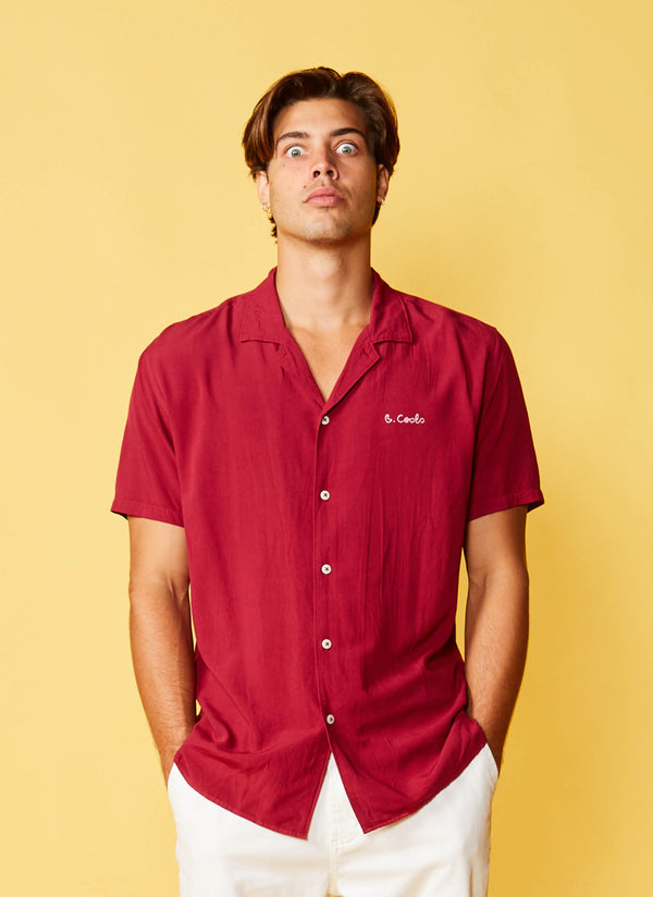 Holiday Camp-Collar Shirt Red