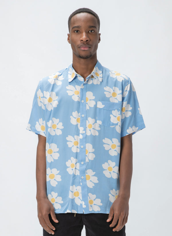 Holiday Short-Sleeve Shirt Blue Daisy - Sale