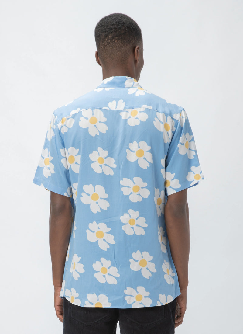 Holiday Short-Sleeve Shirt Blue Daisy