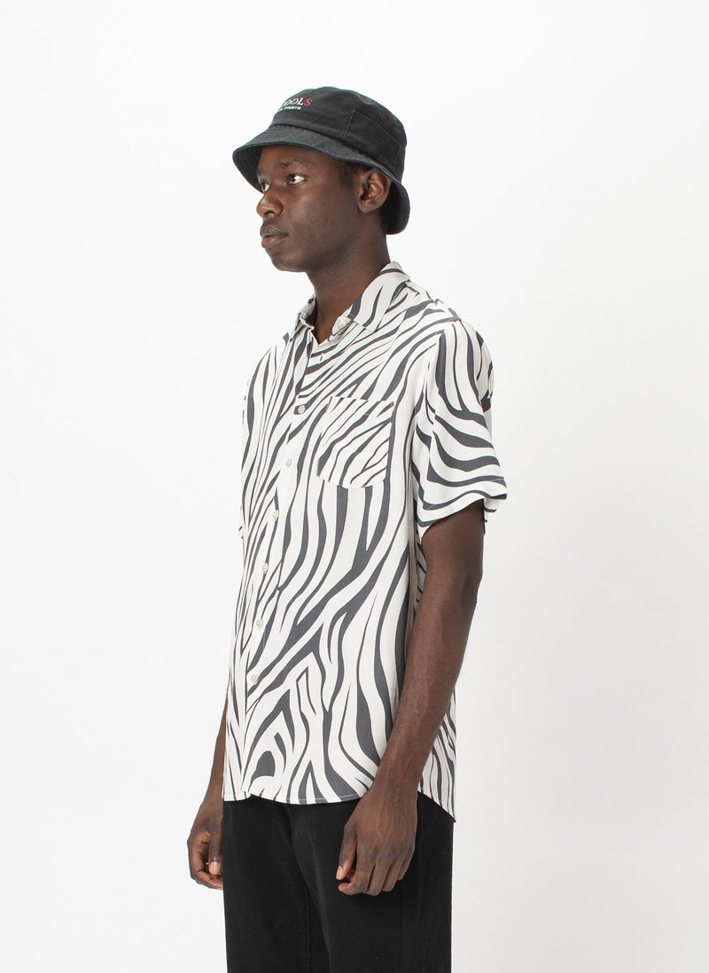 Holiday Short-Sleeve Shirt Zebra