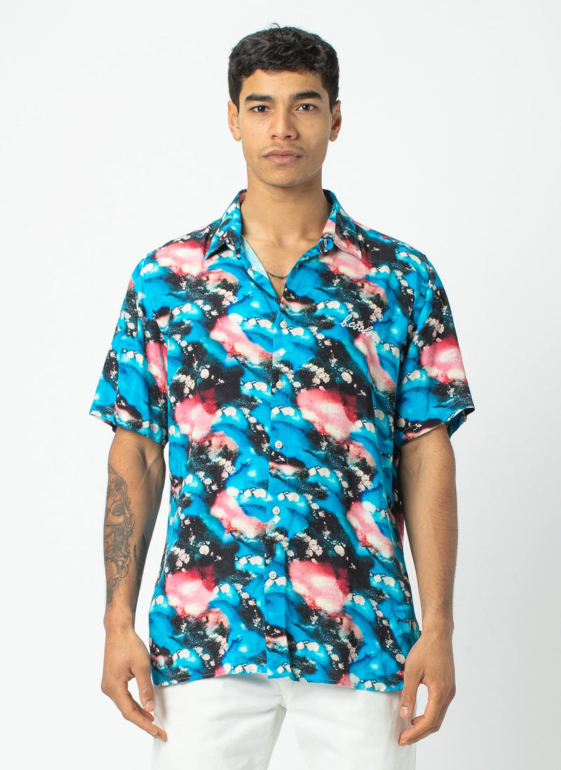 Holiday Short Sleeve Shirt Blue Marble - Sale