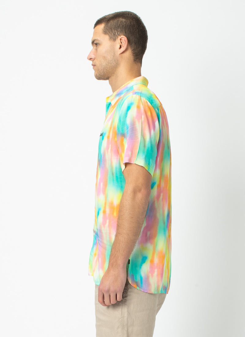 Holiday Short Sleeve Shirt Rainbow