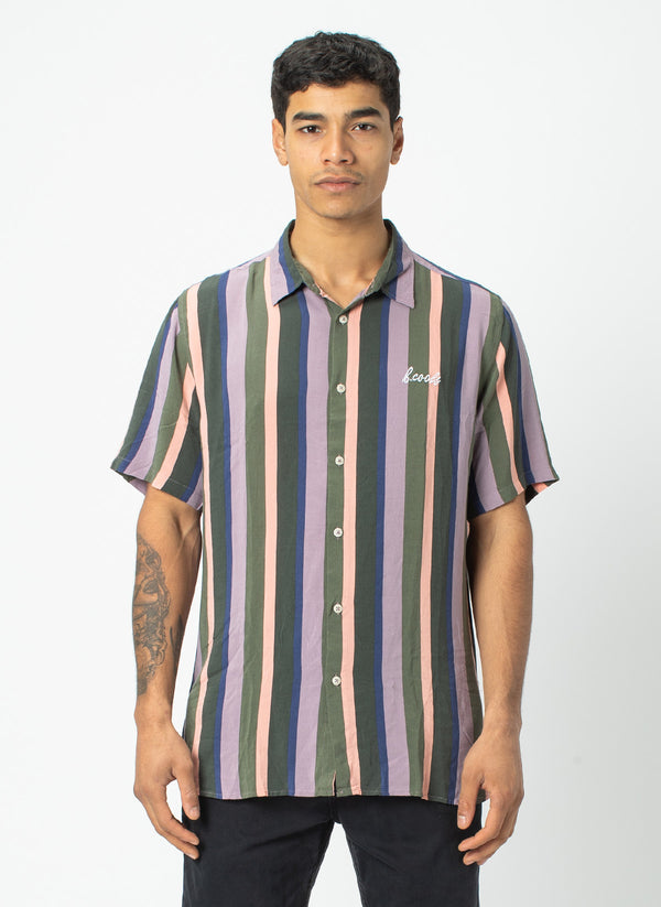 Holiday Short Sleeve Shirt Disco Stripe - Sale
