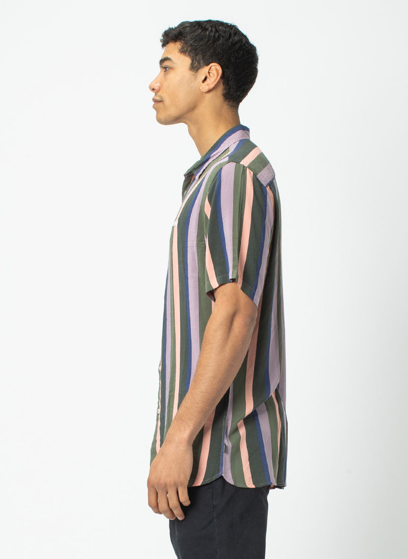 Holiday Short Sleeve Shirt Disco Stripe