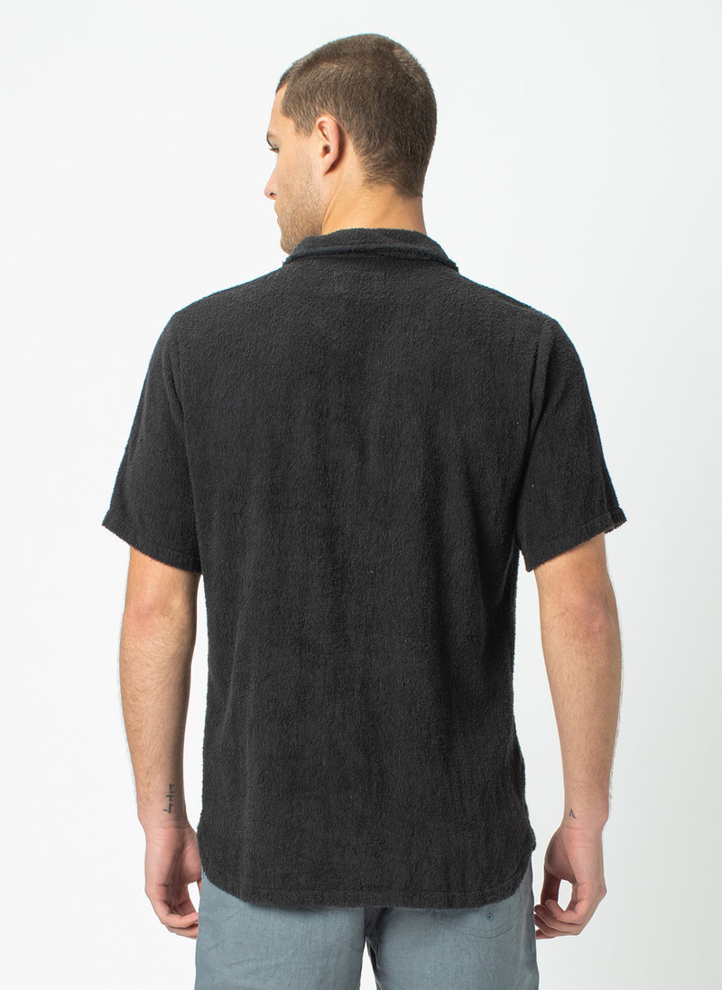 Holiday Short Sleeve Shirt Black Terry