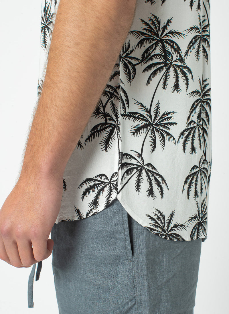 Holiday Short-Sleeve Shirt White Palms