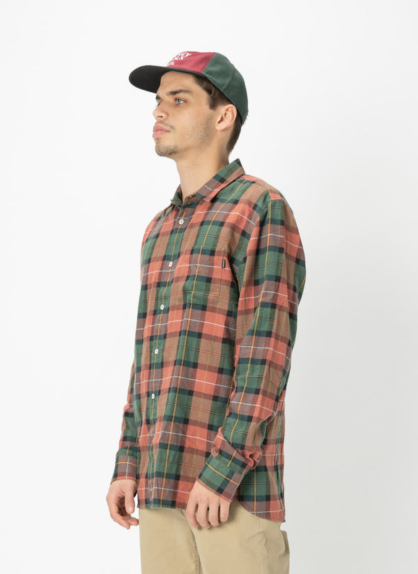 Cabin Long-Sleeve Shirt Woodland Plaid