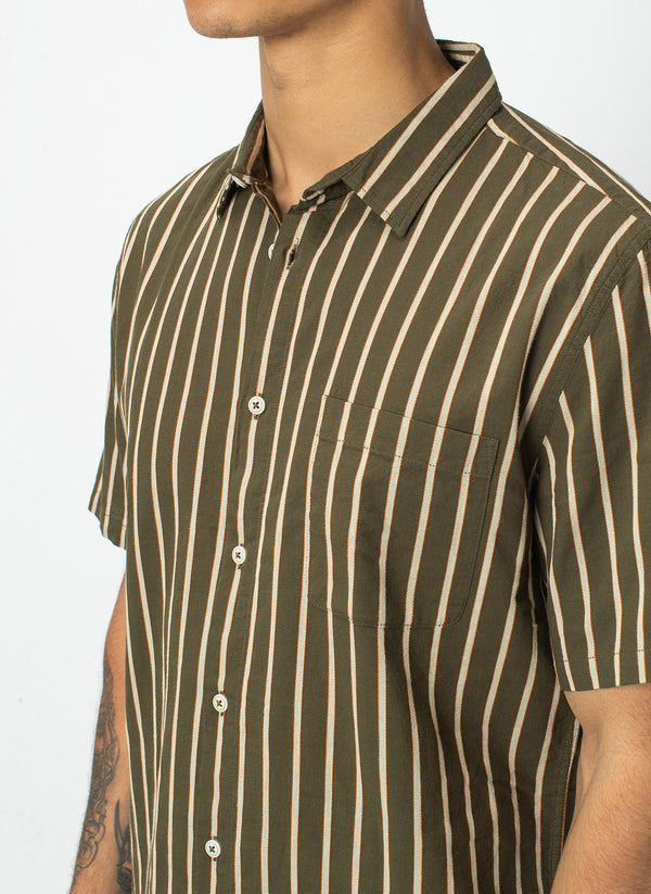 Holiday Short-Sleeve Shirt Army Stripe - Sale