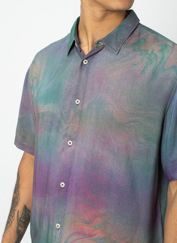 Holiday Short-Sleeve Shirt Magic Marble