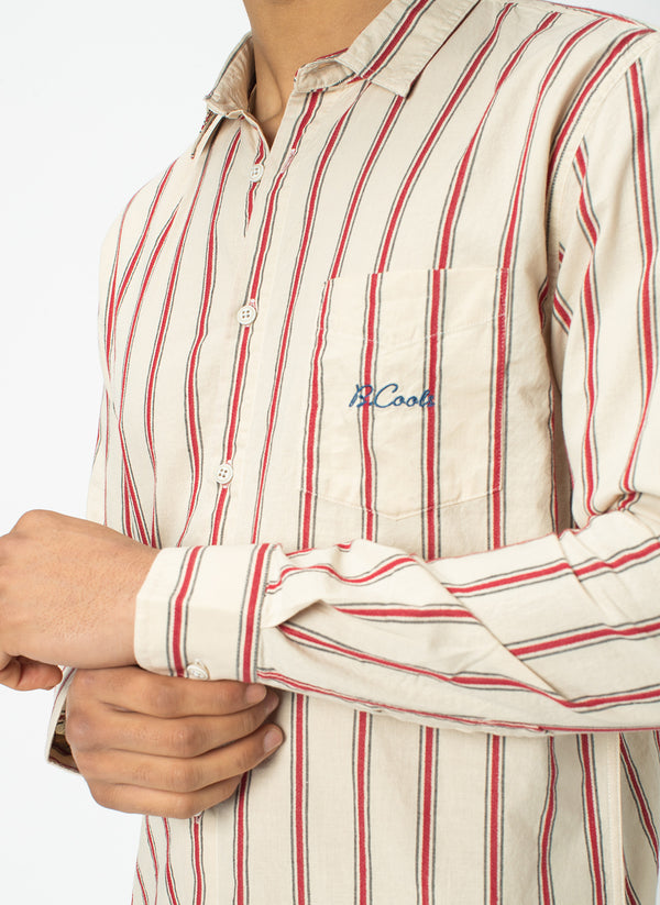 Cabin Long Sleeve Shirt Sport Stripe