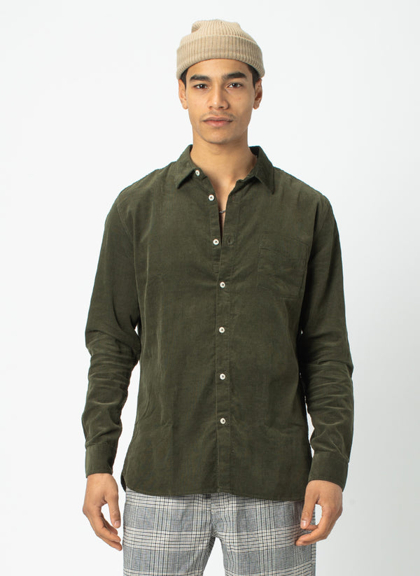 Cabin Long Sleeve Sage Cord