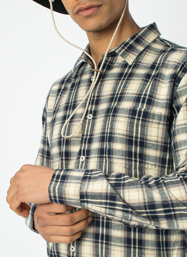 Cabin Long Sleeve Stone Check