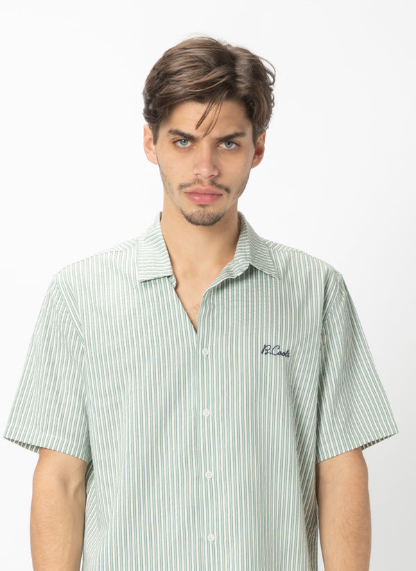 Holiday Short Sleeve Shirt Seagrass Stripe
