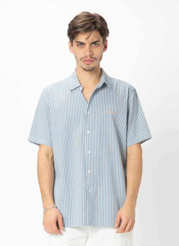 Holiday Short Sleeve Shirt Indigo Stripe - Sale