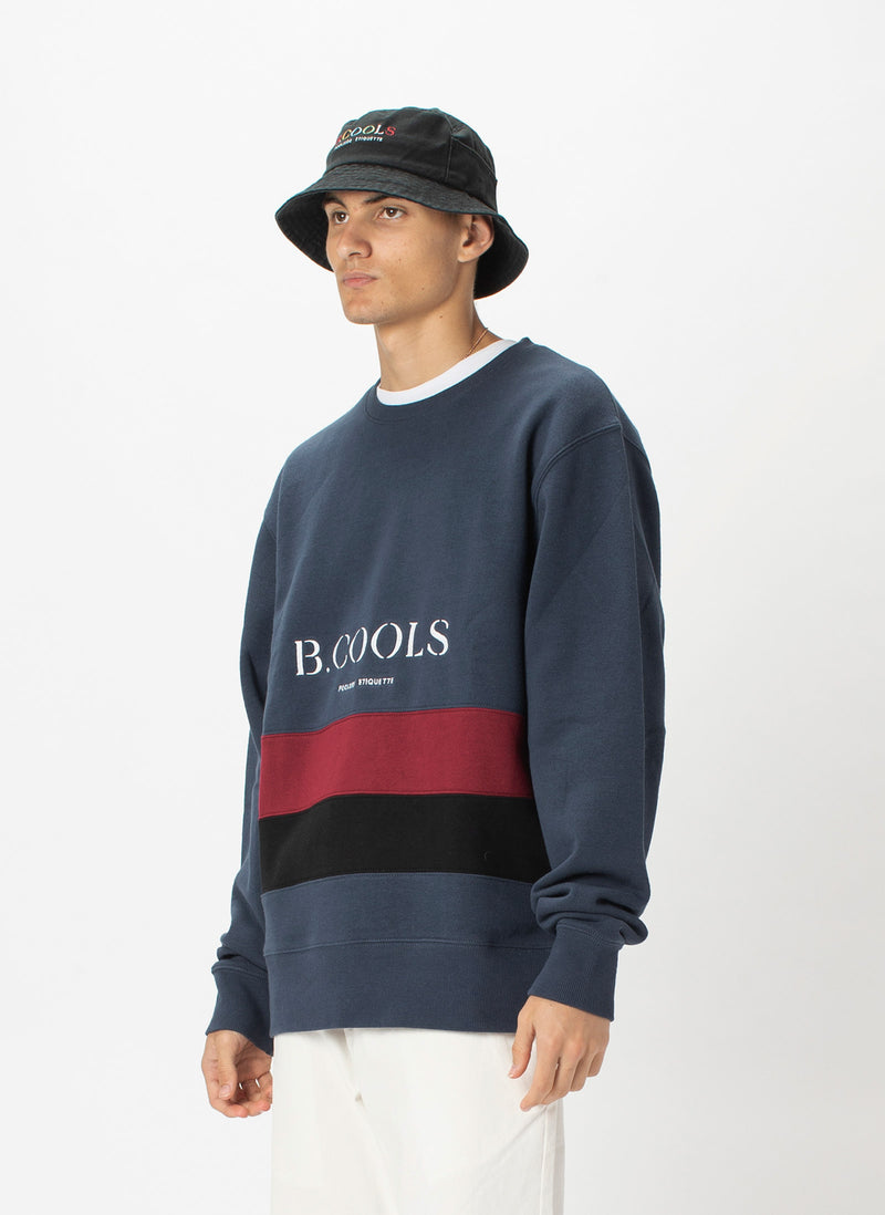 B.Quick Sweatshirt Slate Panel