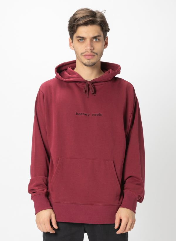 Barney Cools Hood Embro Sweatshirt Oxblood - Sale