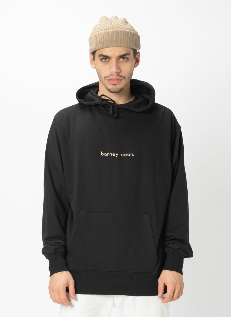 Barney Cools Hood Embro Sweatshirt Black - Sale