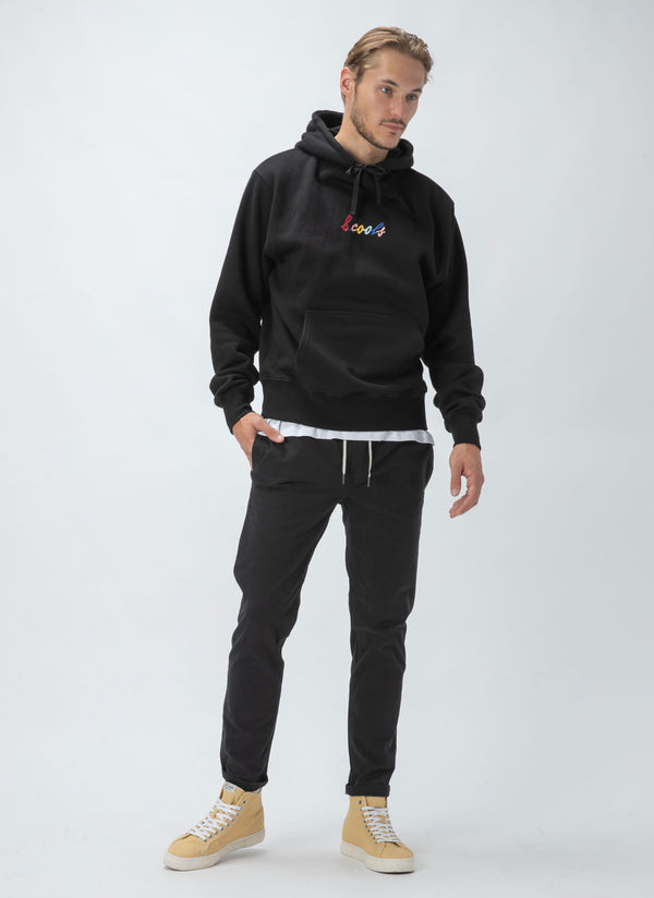 B.Cools Embro Hood Sweatshirt Black - Sale