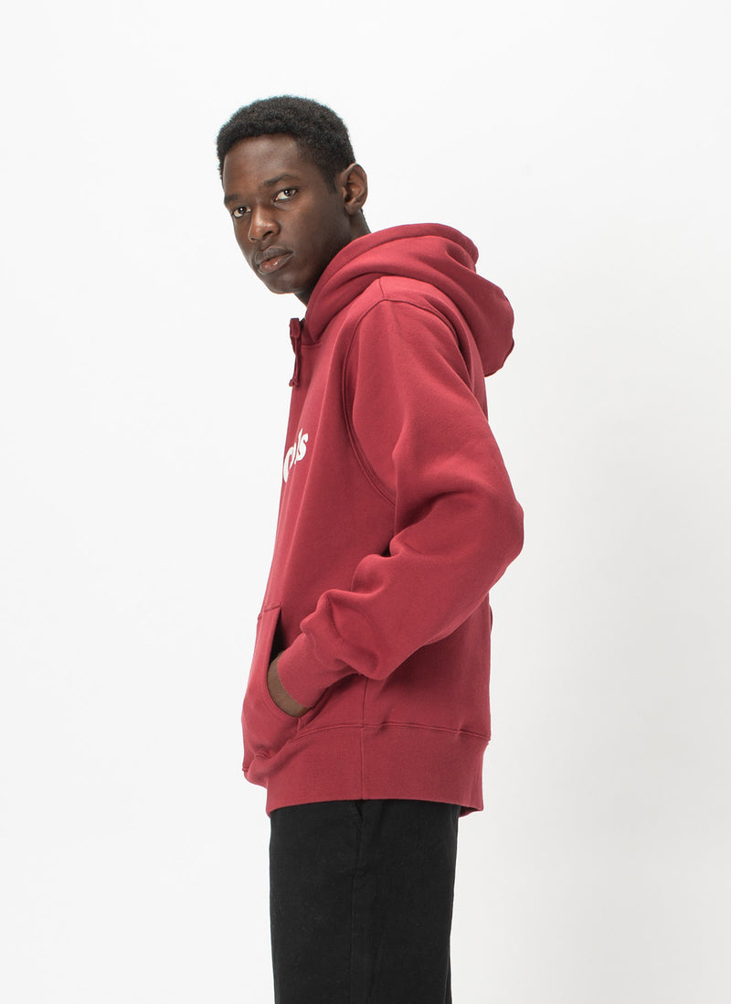 B.Cools Retro Hood Sweatshirt Dull Red