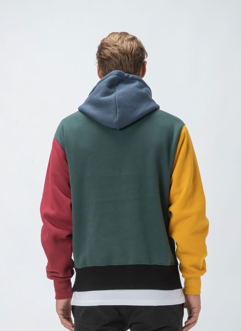B.Cools Heritage Hood Sweatshirt Colour Block