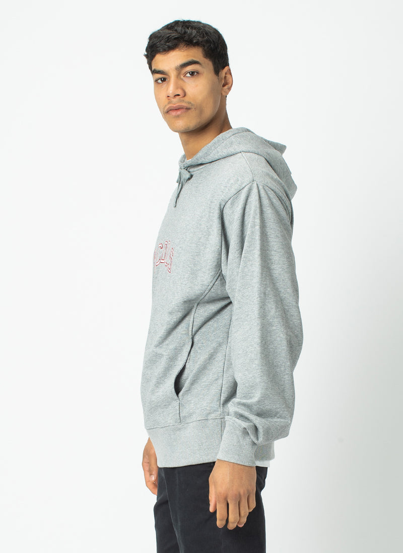 College Hood Sweatshirt Grey Melange - Sale