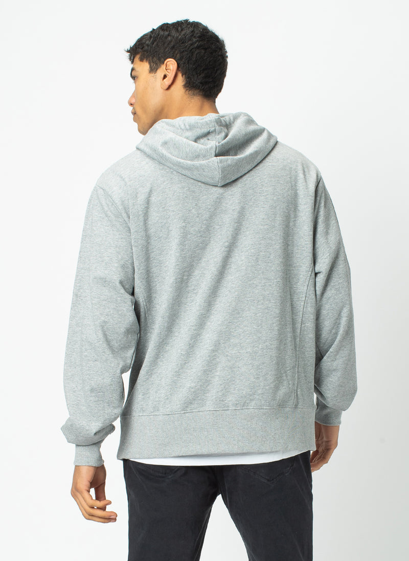 College Hood Sweatshirt Grey Melange