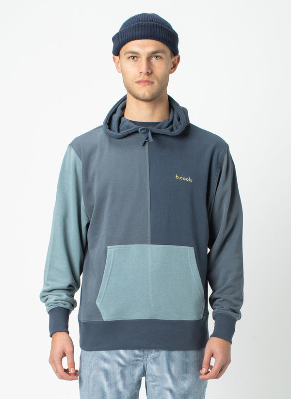B.Quick Hood Sweatshirt Navy Panel - Draft
