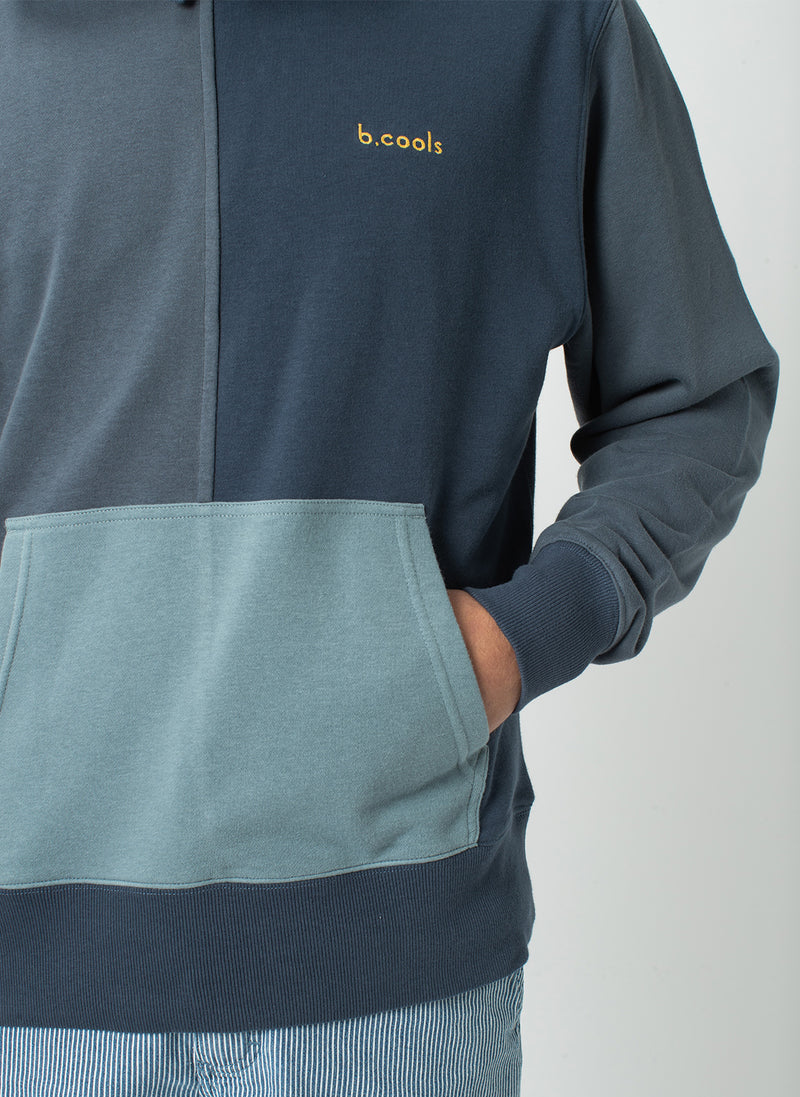 B.Quick Hood Sweatshirt Navy Panel