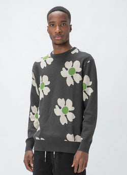 Daisy Crew Knit Charcoal