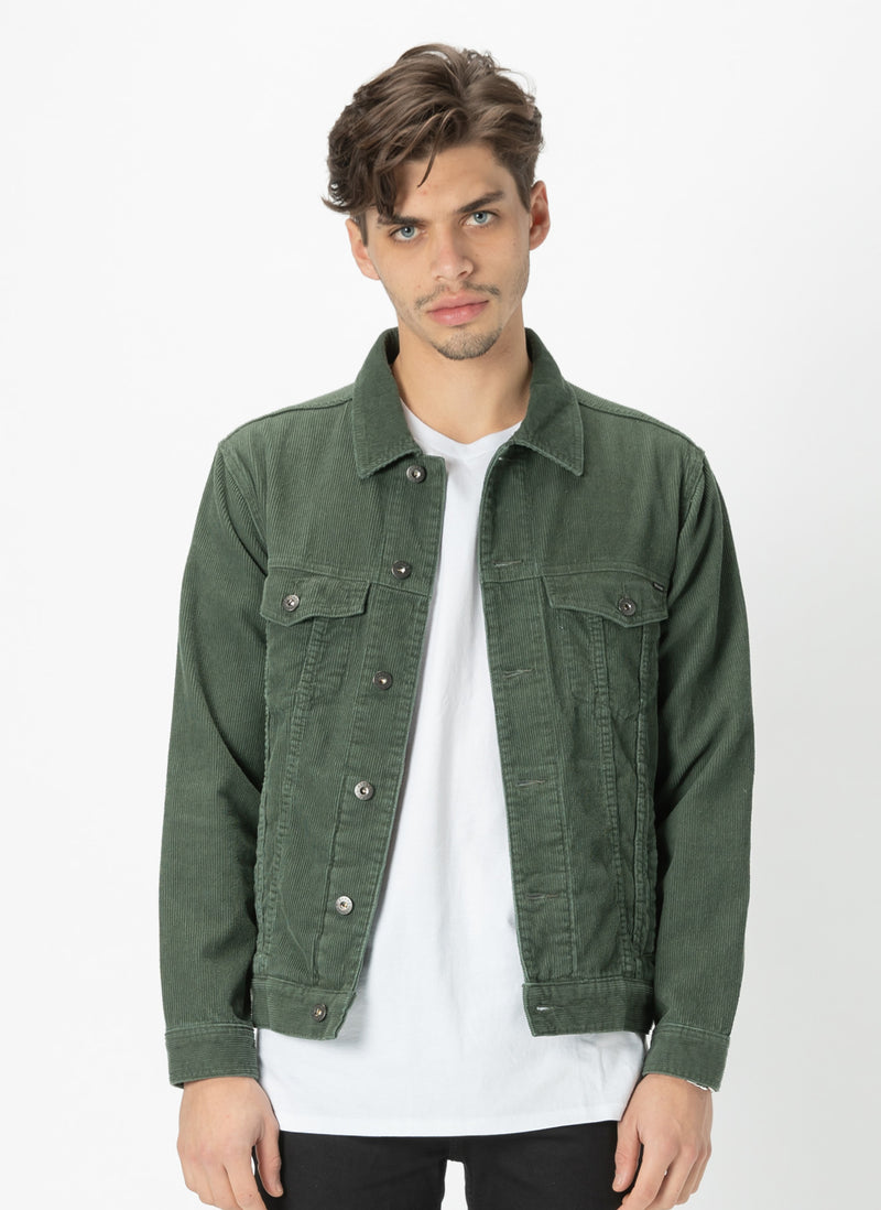 B.Rigid Jacket Bottle Green Corduroy