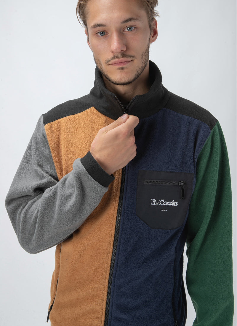 B.Quick Polarfleece Jacket Colour Block