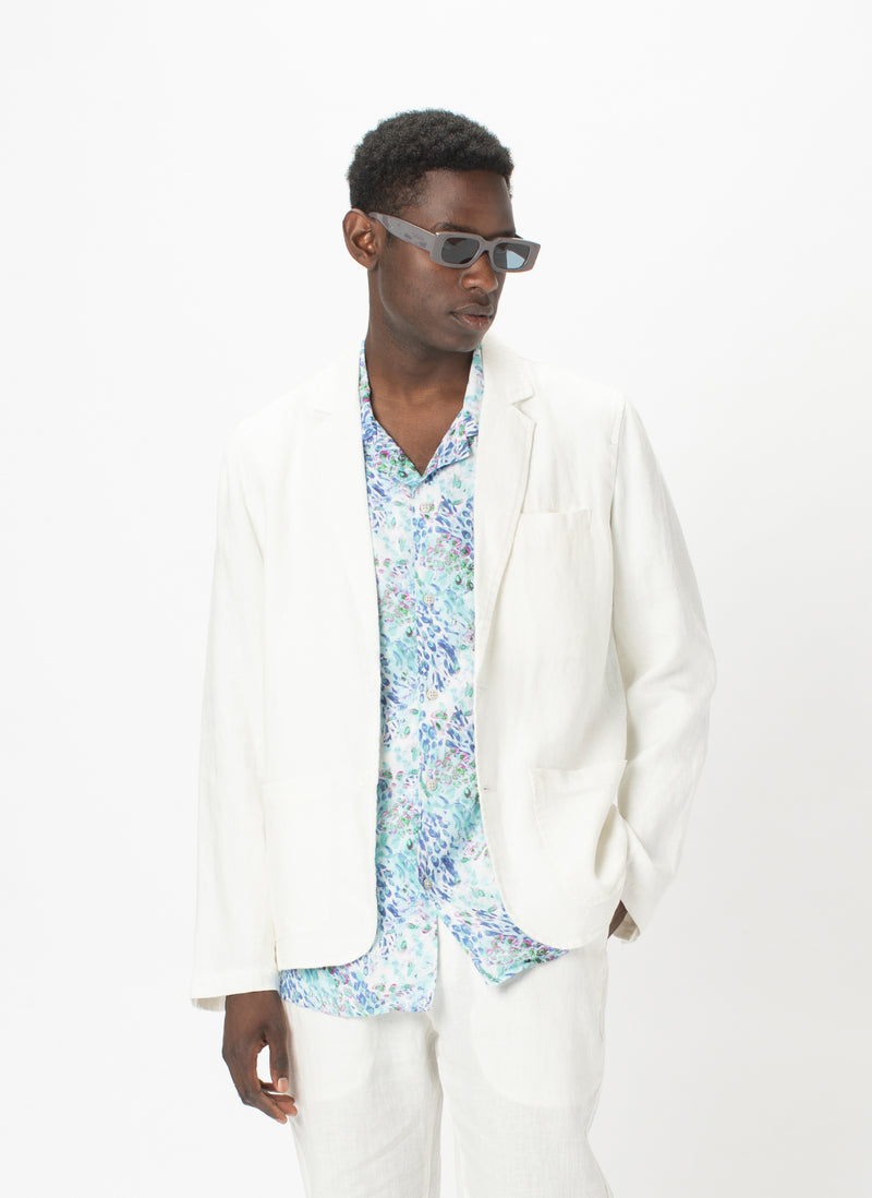 Poolside Jacket White Linen