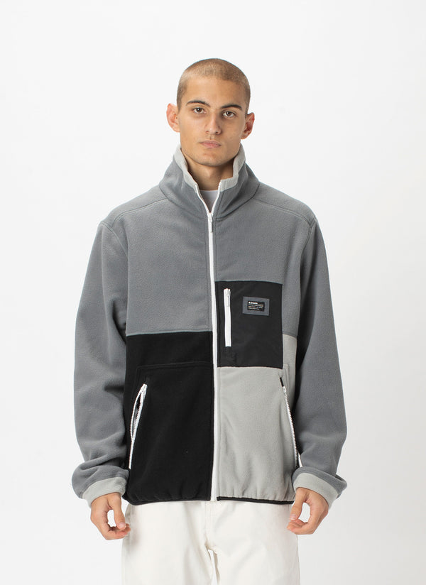 B.Quick Polarfleece Jacket Grey Panel