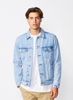 B.Rigid Denim Jacket Cobain Blue