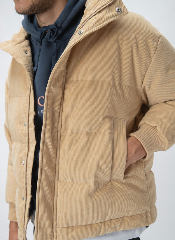 Puffer Jacket Tan Cord - Sale