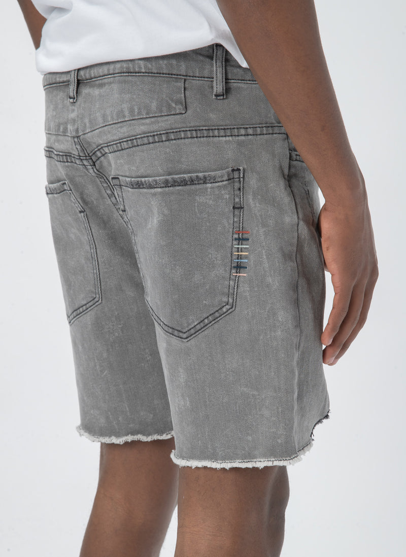 Raw Jean Short Acid Black