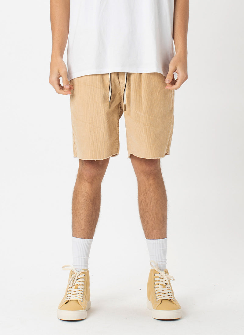 B.Relaxed Short Tan Corduroy