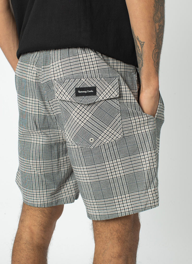 "Poolside 17"" Short Grey Check"