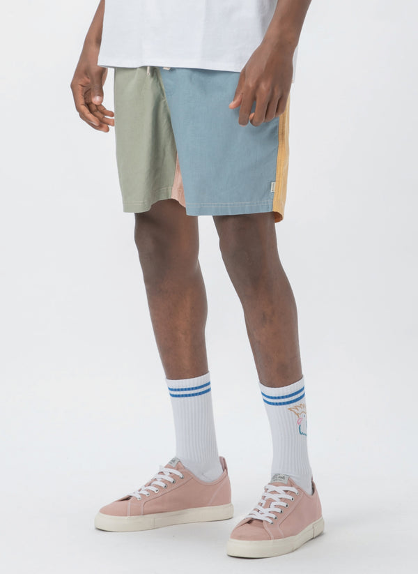 "Poolside 17"" Short Pastel Colour Block - Sale"