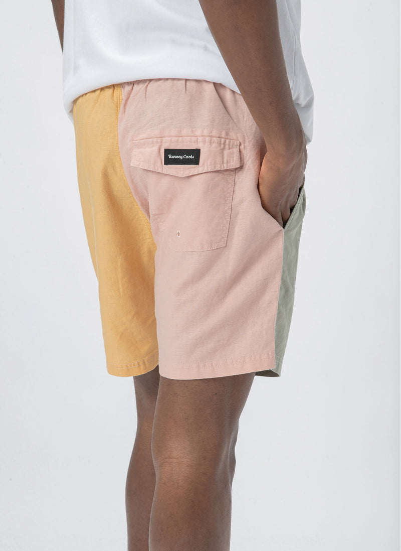 "Poolside 17"" Short Pastel Colour Block"